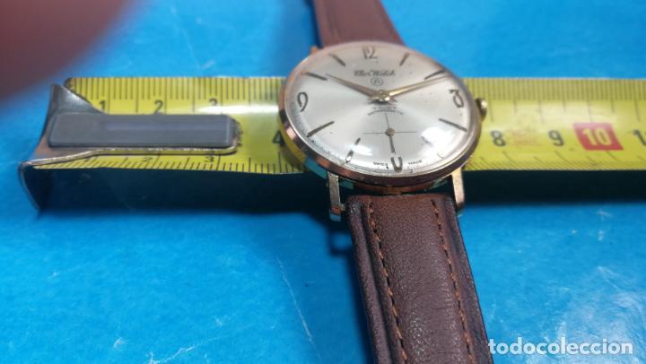 Relojes de pulsera: Botito reloj de cuerda antiguo Cler Walch, funcionando, chapado en oro,de caballero - Foto 23 - 140290502
