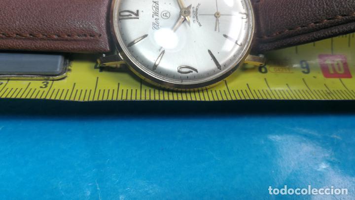 Relojes de pulsera: Botito reloj de cuerda antiguo Cler Walch, funcionando, chapado en oro,de caballero - Foto 24 - 140290502
