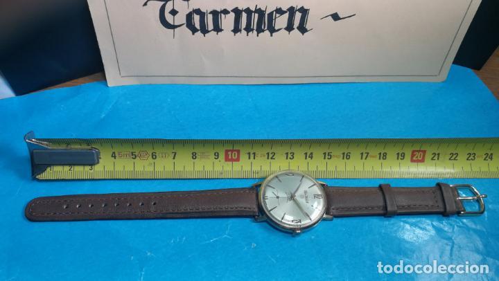 Relojes de pulsera: Botito reloj de cuerda antiguo Cler Walch, funcionando, chapado en oro,de caballero - Foto 25 - 140290502