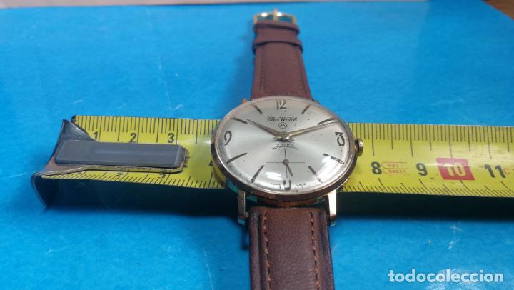 Relojes de pulsera: Botito reloj de cuerda antiguo Cler Walch, funcionando, chapado en oro,de caballero - Foto 26 - 140290502