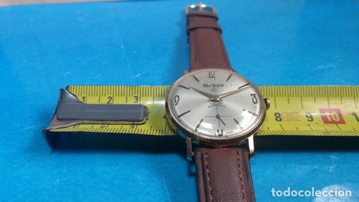 Relojes de pulsera: Botito reloj de cuerda antiguo Cler Walch, funcionando, chapado en oro,de caballero - Foto 27 - 140290502