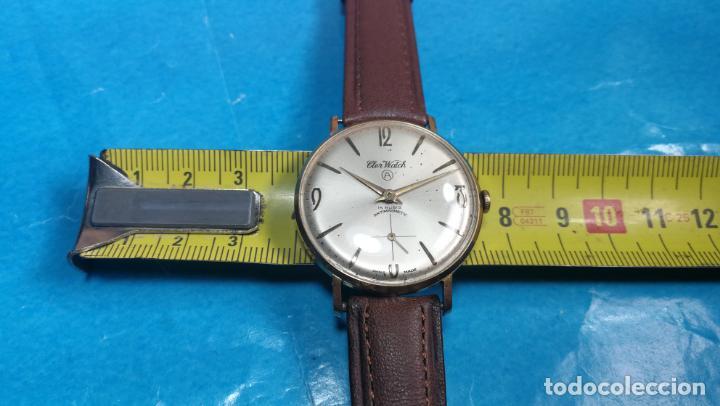 Relojes de pulsera: Botito reloj de cuerda antiguo Cler Walch, funcionando, chapado en oro,de caballero - Foto 28 - 140290502