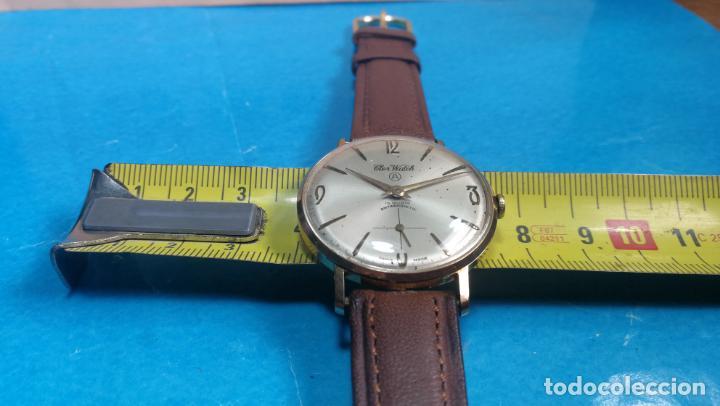 Relojes de pulsera: Botito reloj de cuerda antiguo Cler Walch, funcionando, chapado en oro,de caballero - Foto 29 - 140290502