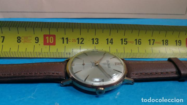 Relojes de pulsera: Botito reloj de cuerda antiguo Cler Walch, funcionando, chapado en oro,de caballero - Foto 30 - 140290502