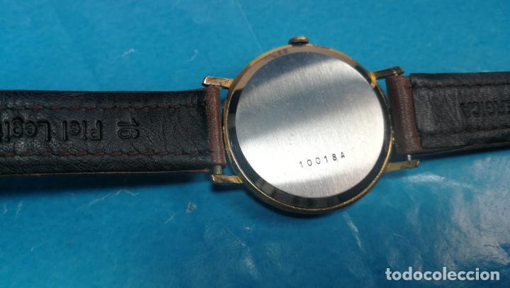 Relojes de pulsera: Botito reloj de cuerda antiguo Cler Walch, funcionando, chapado en oro,de caballero - Foto 32 - 140290502