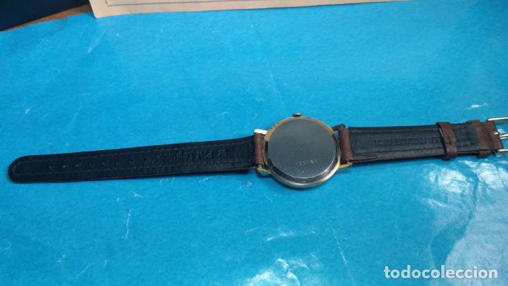 Relojes de pulsera: Botito reloj de cuerda antiguo Cler Walch, funcionando, chapado en oro,de caballero - Foto 36 - 140290502