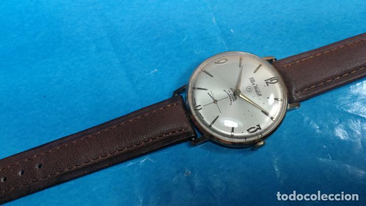 Relojes de pulsera: Botito reloj de cuerda antiguo Cler Walch, funcionando, chapado en oro,de caballero - Foto 37 - 140290502