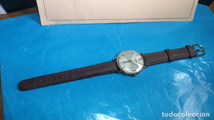 Relojes de pulsera: Botito reloj de cuerda antiguo Cler Walch, funcionando, chapado en oro,de caballero - Foto 38 - 140290502