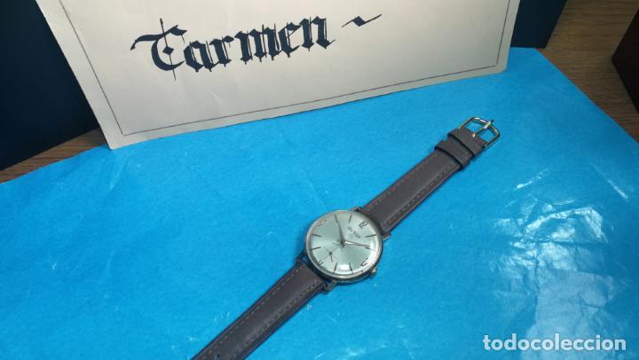 Relojes de pulsera: Botito reloj de cuerda antiguo Cler Walch, funcionando, chapado en oro,de caballero - Foto 40 - 140290502