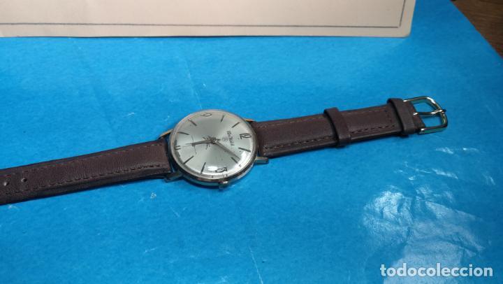 Relojes de pulsera: Botito reloj de cuerda antiguo Cler Walch, funcionando, chapado en oro,de caballero - Foto 41 - 140290502
