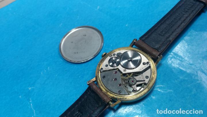 Relojes de pulsera: Botito reloj de cuerda antiguo Cler Walch, funcionando, chapado en oro,de caballero - Foto 42 - 140290502