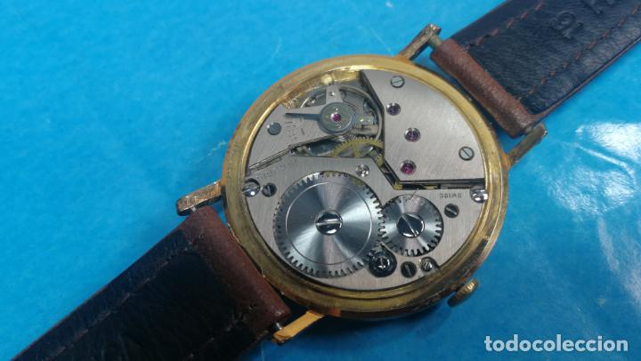 Relojes de pulsera: Botito reloj de cuerda antiguo Cler Walch, funcionando, chapado en oro,de caballero - Foto 44 - 140290502