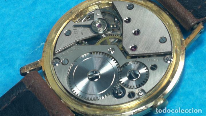 Relojes de pulsera: Botito reloj de cuerda antiguo Cler Walch, funcionando, chapado en oro,de caballero - Foto 45 - 140290502