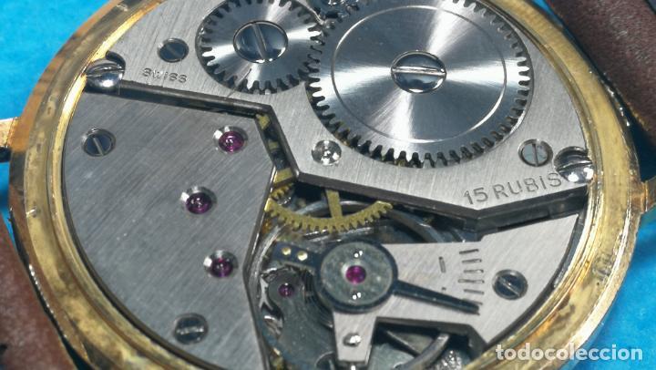 Relojes de pulsera: Botito reloj de cuerda antiguo Cler Walch, funcionando, chapado en oro,de caballero - Foto 46 - 140290502