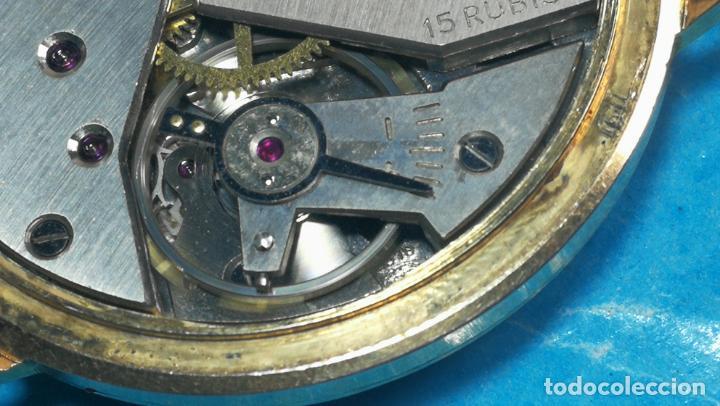 Relojes de pulsera: Botito reloj de cuerda antiguo Cler Walch, funcionando, chapado en oro,de caballero - Foto 47 - 140290502