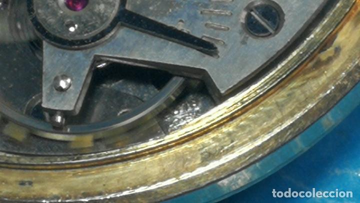 Relojes de pulsera: Botito reloj de cuerda antiguo Cler Walch, funcionando, chapado en oro,de caballero - Foto 48 - 140290502