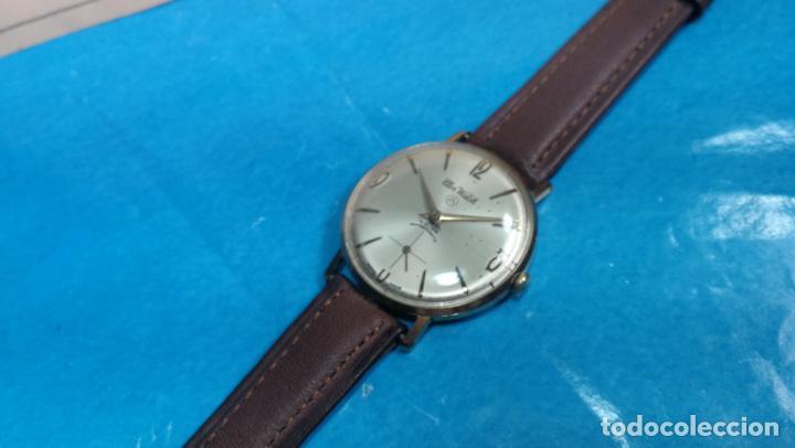 Relojes de pulsera: Botito reloj de cuerda antiguo Cler Walch, funcionando, chapado en oro,de caballero - Foto 49 - 140290502