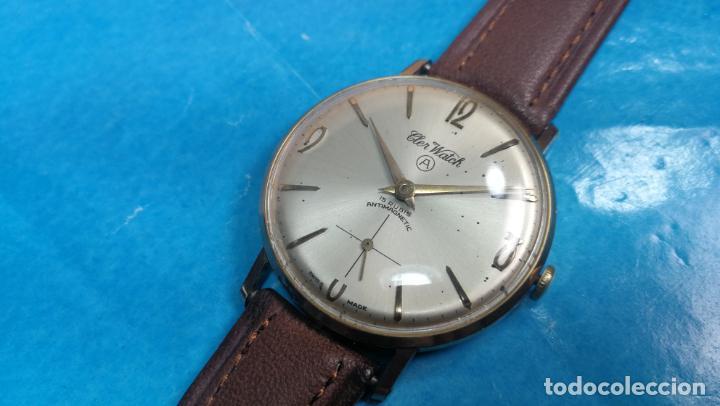 Relojes de pulsera: Botito reloj de cuerda antiguo Cler Walch, funcionando, chapado en oro,de caballero - Foto 50 - 140290502