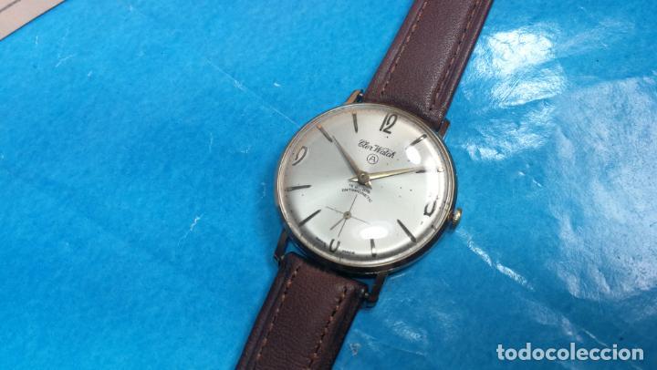 Relojes de pulsera: Botito reloj de cuerda antiguo Cler Walch, funcionando, chapado en oro,de caballero - Foto 52 - 140290502