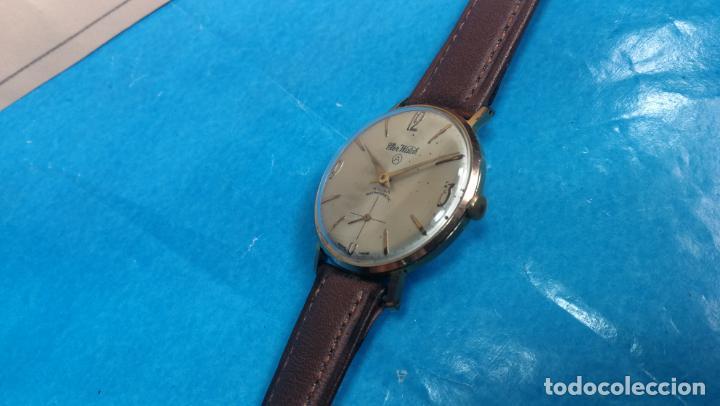 Relojes de pulsera: Botito reloj de cuerda antiguo Cler Walch, funcionando, chapado en oro,de caballero - Foto 53 - 140290502