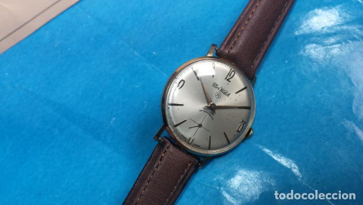 Relojes de pulsera: Botito reloj de cuerda antiguo Cler Walch, funcionando, chapado en oro,de caballero - Foto 54 - 140290502