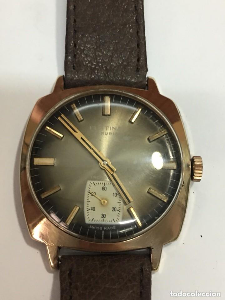 RELOJ FESTINA MADE IN SUIZA VINTAGE CIRCLA 1960CHAPADO ORO 10 MICRAS PERFECTO FUNCIONAMIENTO (Relojes - Pulsera Carga Manual)