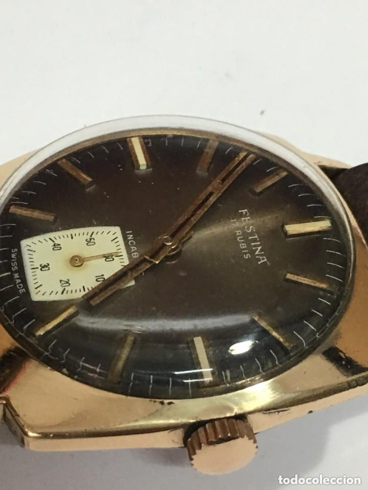 Relojes de pulsera: reloj festina made in suiza vintage circla 1960chapado oro 10 micras perfecto funcionamiento - Foto 3 - 140396486