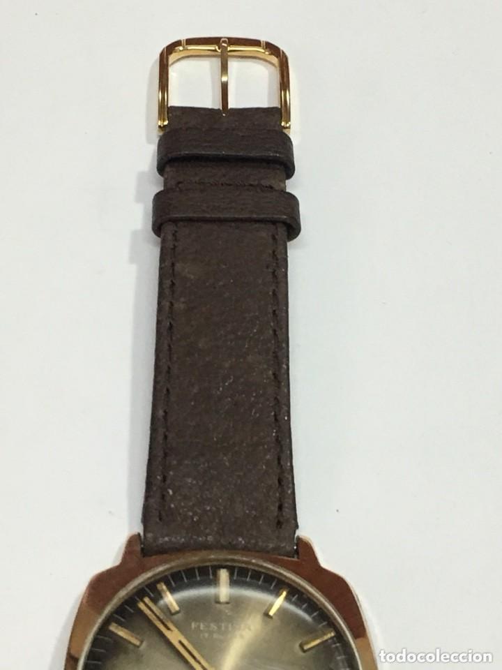 Relojes de pulsera: reloj festina made in suiza vintage circla 1960chapado oro 10 micras perfecto funcionamiento - Foto 7 - 140396486