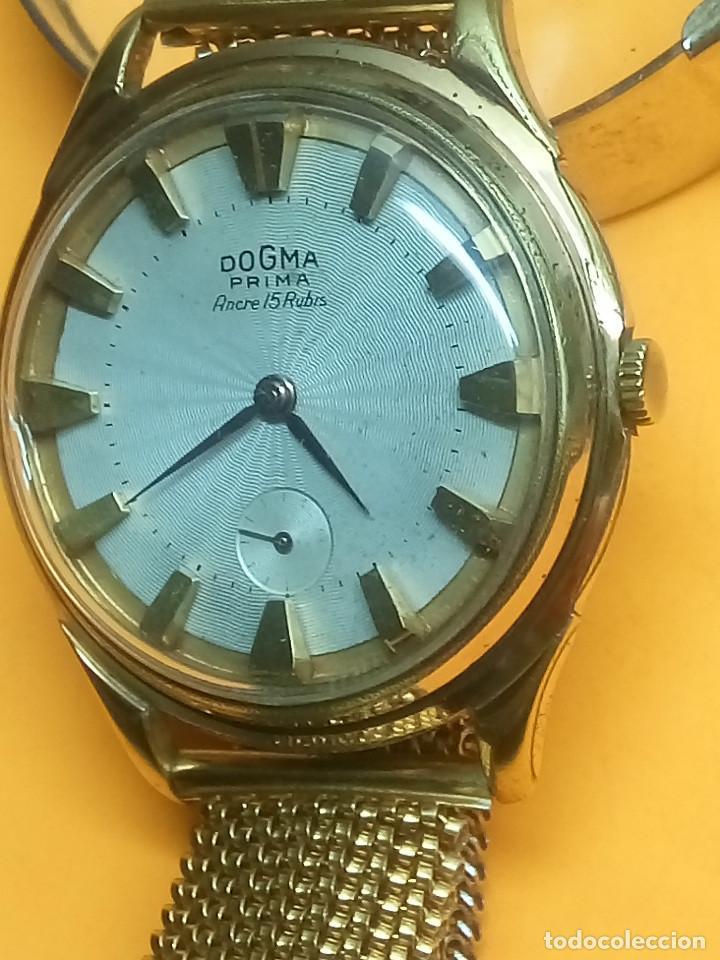 DOGMA - MANUAL. AÑOS 50. FUNCIONANDO. 39.8 MM. S/C. IMPECABLE. PLAQUE ORO. INFO EN DESCRIPCION. (Relojes - Pulsera Carga Manual)