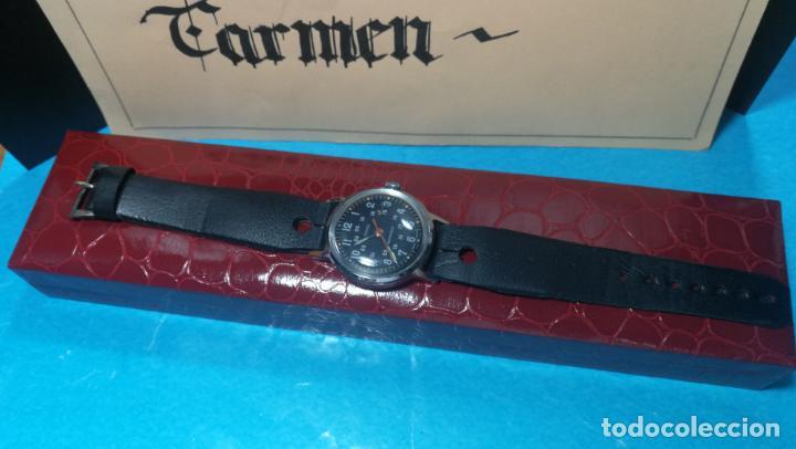 Relojes de pulsera: Botito reloj de cuerda estilo militar - Foto 4 - 140660010