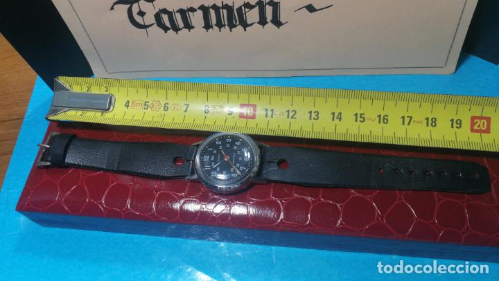 Relojes de pulsera: Botito reloj de cuerda estilo militar - Foto 7 - 140660010