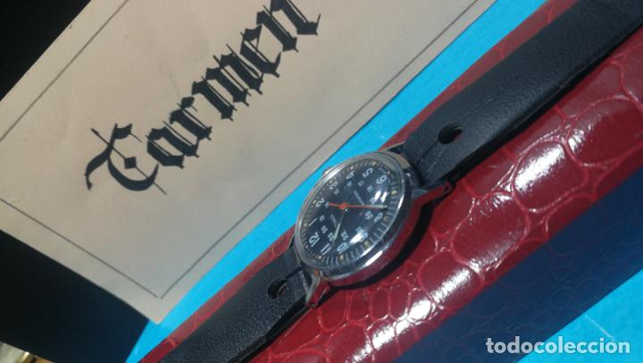 Relojes de pulsera: Botito reloj de cuerda estilo militar - Foto 9 - 140660010