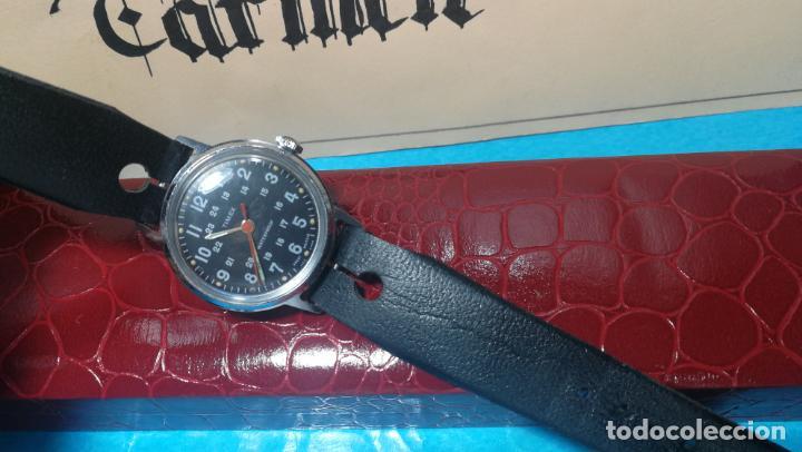 Relojes de pulsera: Botito reloj de cuerda estilo militar - Foto 14 - 140660010