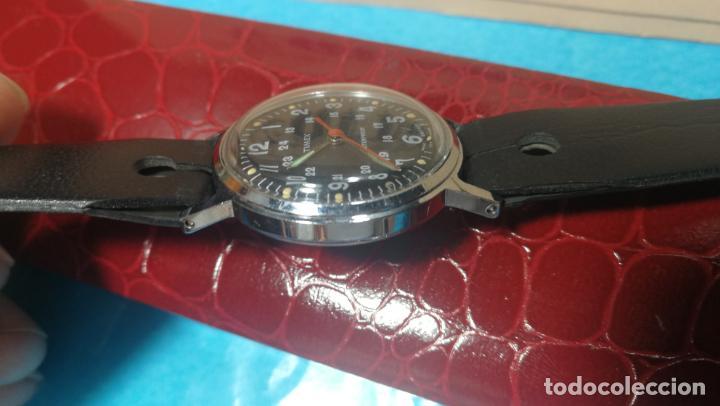 Relojes de pulsera: Botito reloj de cuerda estilo militar - Foto 18 - 140660010