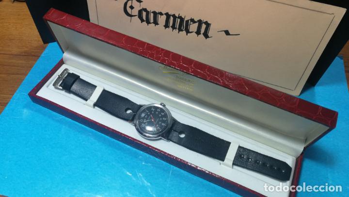 Relojes de pulsera: Botito reloj de cuerda estilo militar - Foto 28 - 140660010