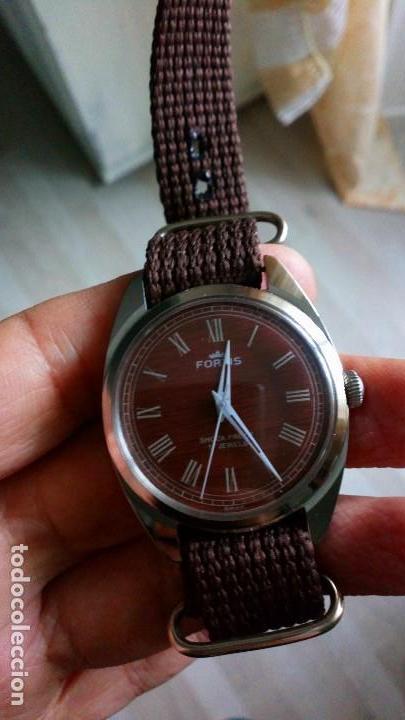 Relojes de pulsera: BONITO RELOJ VINTAGE SUIZO FORTIS IMITACIÓN MADERA NUEVO. - Foto 2 - 140891390