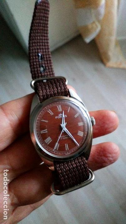 Relojes de pulsera: BONITO RELOJ VINTAGE SUIZO FORTIS IMITACIÓN MADERA NUEVO. - Foto 3 - 140891390