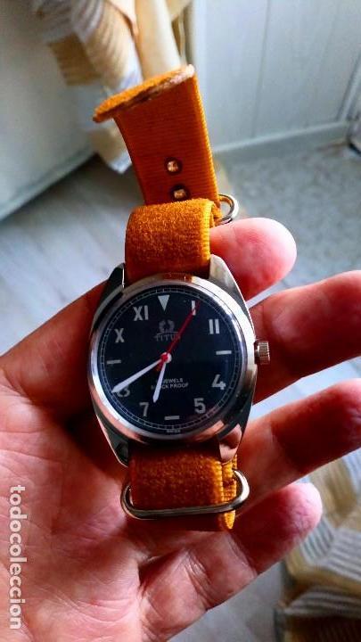 Relojes de pulsera: BONITO RELOJ VINTAGE SUIZO TITUS DEPORTIVO NUEVO. - Foto 3 - 140892402