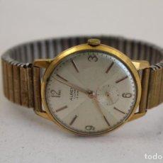 Relojes de pulsera: RELOJ MANUAL ALBEN LUXE 15 RUBIS CHAPADO EN ORO. Lote 140955018