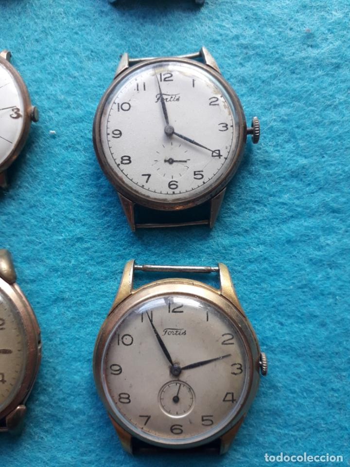 Relojes de pulsera: Lote de 9 Relojes mecánicos antiguos para caballero. Fortis, Festina, Halcón, Roamer, Cyma... - Foto 2 - 141308234