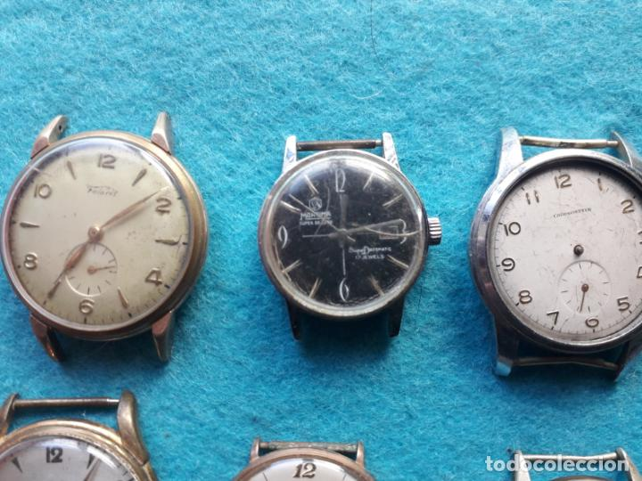 Relojes de pulsera: Lote de 9 Relojes mecánicos antiguos para caballero. Fortis, Festina, Halcón, Roamer, Cyma... - Foto 5 - 141308234