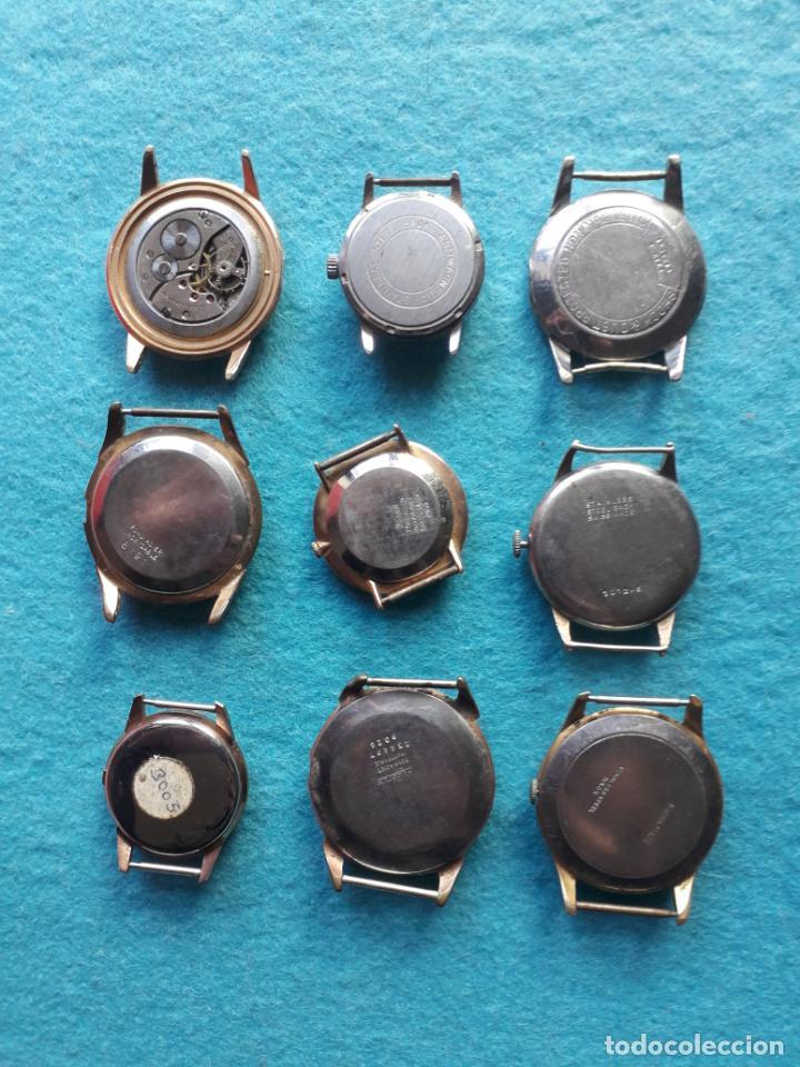 Relojes de pulsera: Lote de 9 Relojes mecánicos antiguos para caballero. Fortis, Festina, Halcón, Roamer, Cyma... - Foto 6 - 141308234