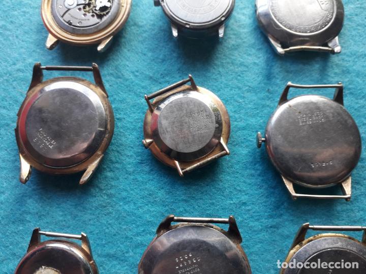 Relojes de pulsera: Lote de 9 Relojes mecánicos antiguos para caballero. Fortis, Festina, Halcón, Roamer, Cyma... - Foto 8 - 141308234