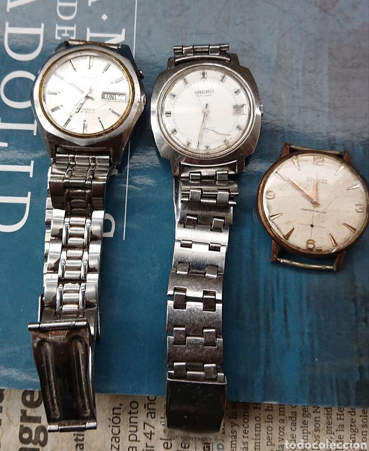 LOTE TRES RELOJES PULSERA, SEIKO, ORIENT, DUWARD, VED FOTOS (Relojes - Pulsera Carga Manual)