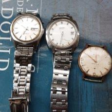 Relojes de pulsera: LOTE TRES RELOJES PULSERA, SEIKO, ORIENT, DUWARD, VED FOTOS. Lote 141310710