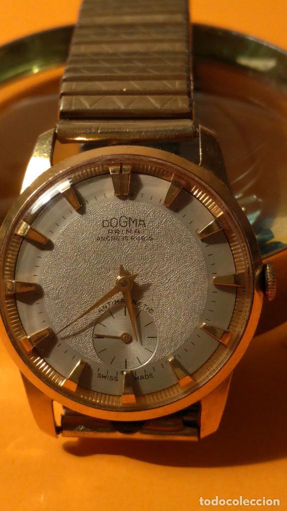 RELOJ DOGMA - MANUAL. AÑOS 50. BUEN ESTADO. P.ORO 10 M. FUNCIONANDO BIEN. DESCRIPCION Y FOTOS. (Relojes - Pulsera Carga Manual)