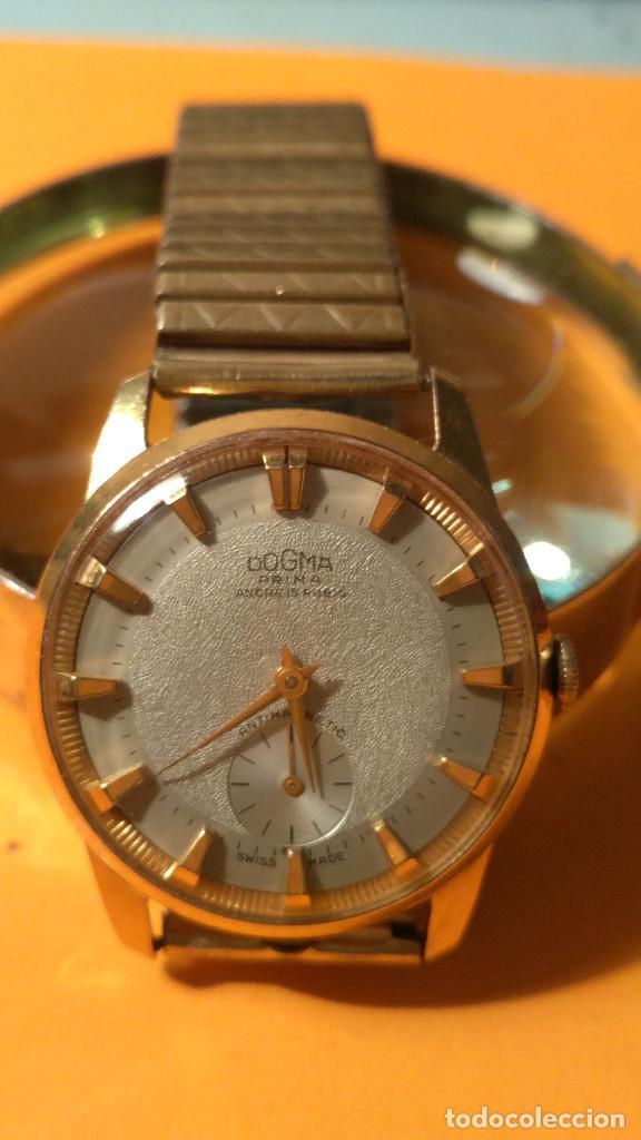 Relojes de pulsera: RELOJ DOGMA - MANUAL. AÑOS 50. BUEN ESTADO. P.ORO 10 M. FUNCIONANDO BIEN. DESCRIPCION Y FOTOS. - Foto 2 - 141450886