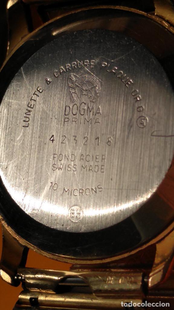 Relojes de pulsera: RELOJ DOGMA - MANUAL. AÑOS 50. BUEN ESTADO. P.ORO 10 M. FUNCIONANDO BIEN. DESCRIPCION Y FOTOS. - Foto 6 - 141450886