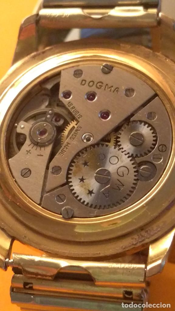 Relojes de pulsera: RELOJ DOGMA - MANUAL. AÑOS 50. BUEN ESTADO. P.ORO 10 M. FUNCIONANDO BIEN. DESCRIPCION Y FOTOS. - Foto 7 - 141450886
