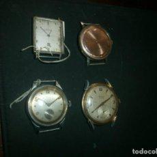 Relojes de pulsera: LOTE 4 RELOJES FUNCIONANDO PULSERA HOMBRE- FESTINA - EDICLA - RITMEX 15 RUBIS - MULTY PRIMA SUPER 23. Lote 141555078
